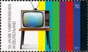 Jubilea kleurentelevisie in veel landen van de wereld