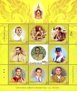 Thaise Post eert 80 jarige koning