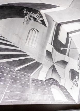 3D-kunstenaar Leon Keer maakt Escheriaanse kunst