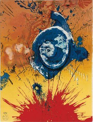 Dalí's grafische werken als bronnen voor schilderijen