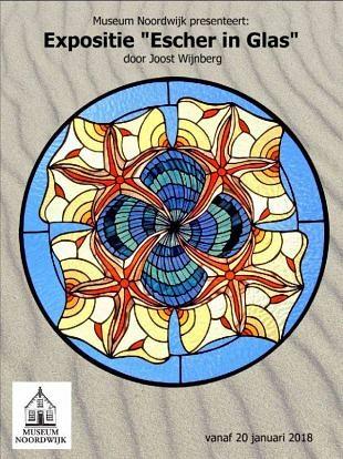 Creatief werk van Escher als basis voor kunst op glas