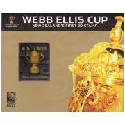 3D postzegel Nieuw-Zeeland Rugby World Cup