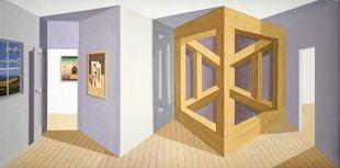 Kunstenaar Patrick Hughes eert werken van Jos de Mey