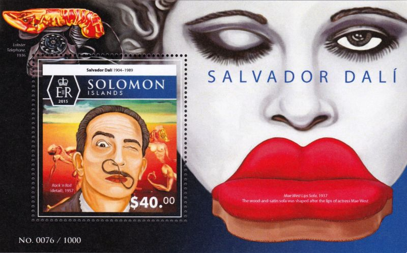 Werken Van Salvador Dali Steeds Vaker Op Postzegels Optische Fenomenen