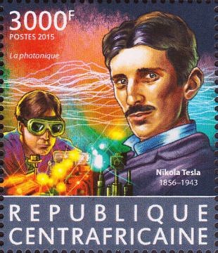 Uitvindingen Nikola Tesla op postzegels vereeuwigd