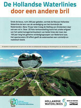 Nieuwe locatie voor expositie Hollandse Waterlinies in 3D