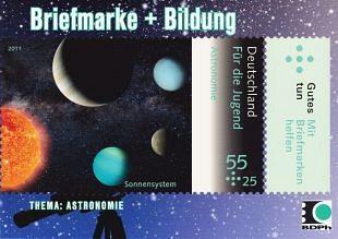 Filatelie brengt regelmatig astronomie op postzegels