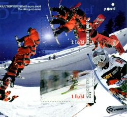 Finse wintersport op 3D postzegels