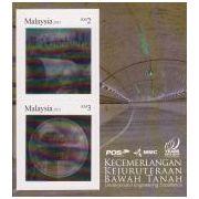 Tunnelboringen in 3D op postzegels Maleisië