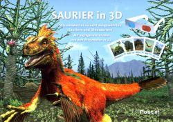 Saurier in 3D postzegelboekje