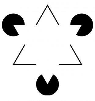 Kanizsa Driehoek Illusie