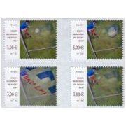 3D Postzegel Frankrijk 2007 Rugby