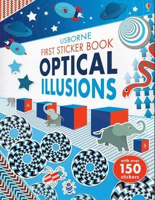 Boekje vol met stickers geeft plezier met optische illusies
