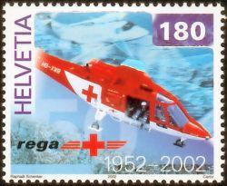 Hologram op Zwitserse REGA postzegel