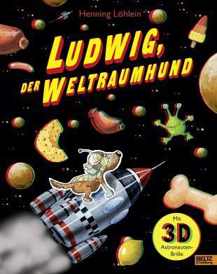 De hond Ludwig droomt van een avontuurlijke ruimtereis