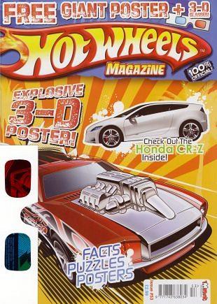 Hot Wheels Magazine geeft lezers poster met 3D beeld