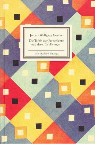 Goethes panelen met zijn kleurenleer en zijn uitleg