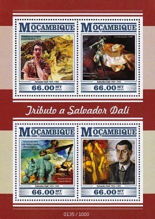 Werken van Salvador Dalí steeds vaker op postzegels